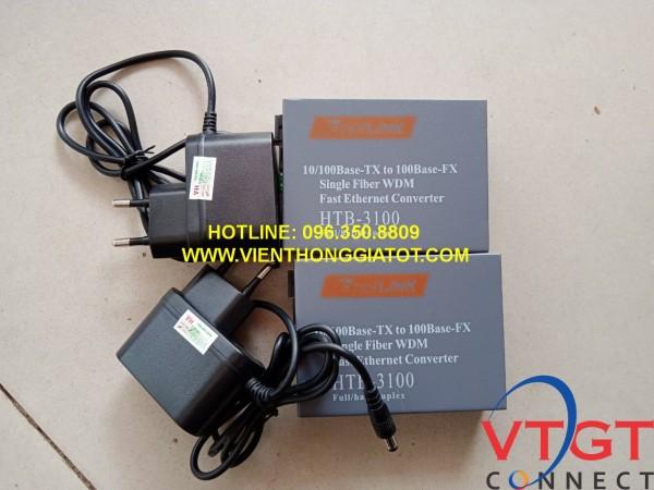 Bộ chuyển đổi quang điện NETLINK mã HTB-3100AB-25Km