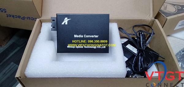 Bộ chuyển đổi quang điện 2 sợi quang Wintop YT-8110GSA-11-20-AS