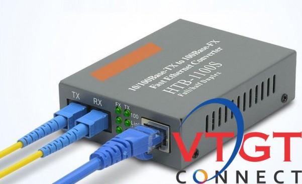 Bộ chuyển đổi quang điện NETLINK 2 sợi HTB- 1100S 25km