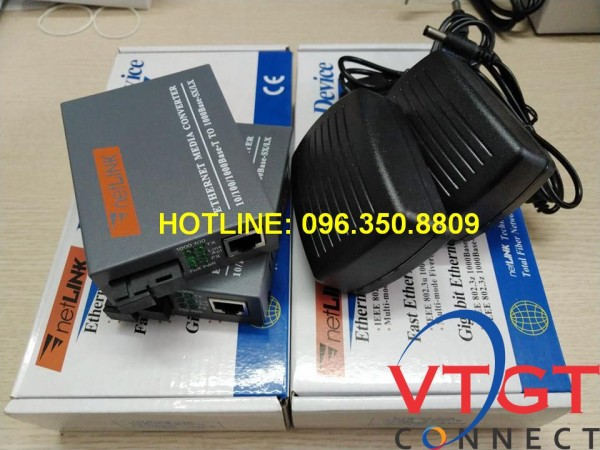 Bộ chuyển đổi quang điện Netlink 1 sợi HTB-3100 A/B