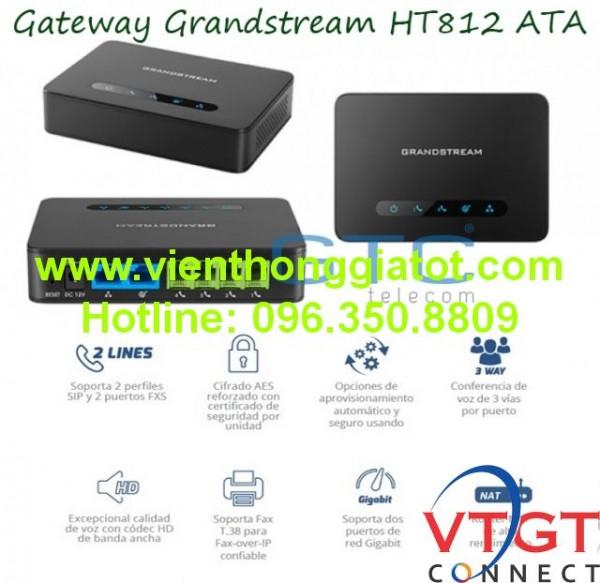 Thiết bị Gateway grandstream 2 cổng FXS HT812