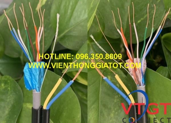 Cáp mạng liền nguồn ngoài trời CAT5E FTP TE-KRONE