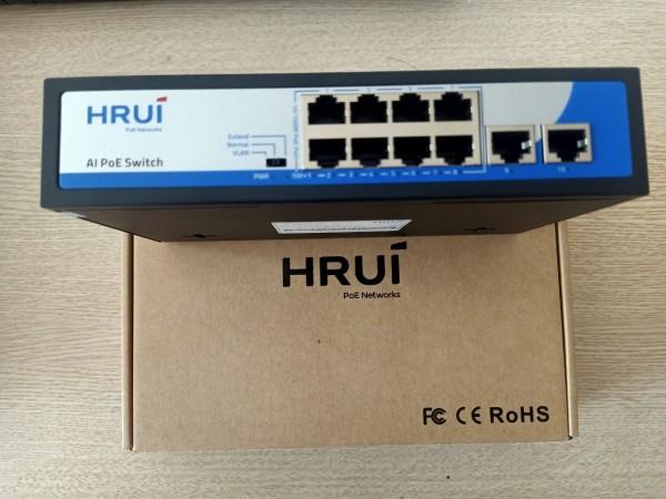 Switch POE 8 cổng Hrui HR900-AF- 82GN