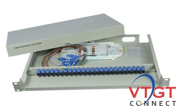 Hộp phối quang ODF 24 Fo trong nhà indoor gắn rack 19