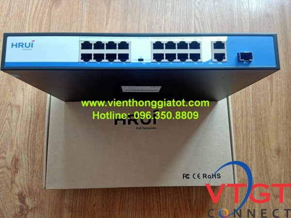 Switch POE 16 cổng HRUI