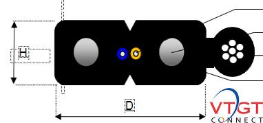 Cáp quang ống lỏng 2FO