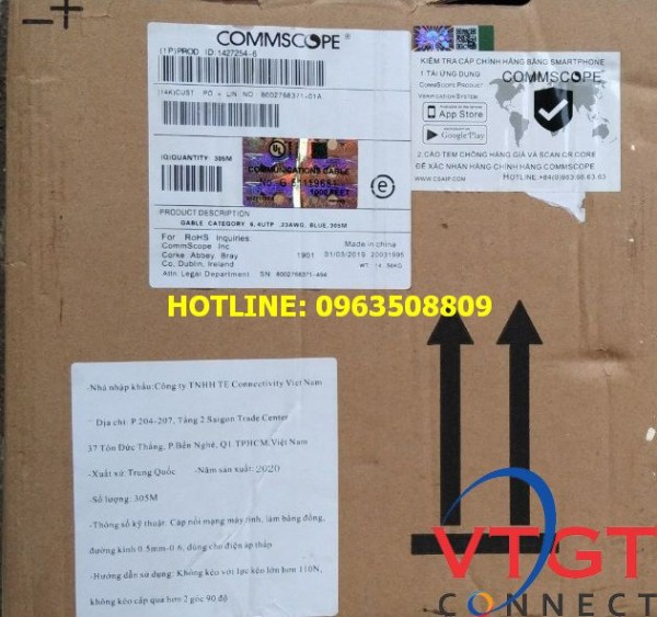 Cáp mạng Cat6 AMP COMMSCOPE 1427254-6